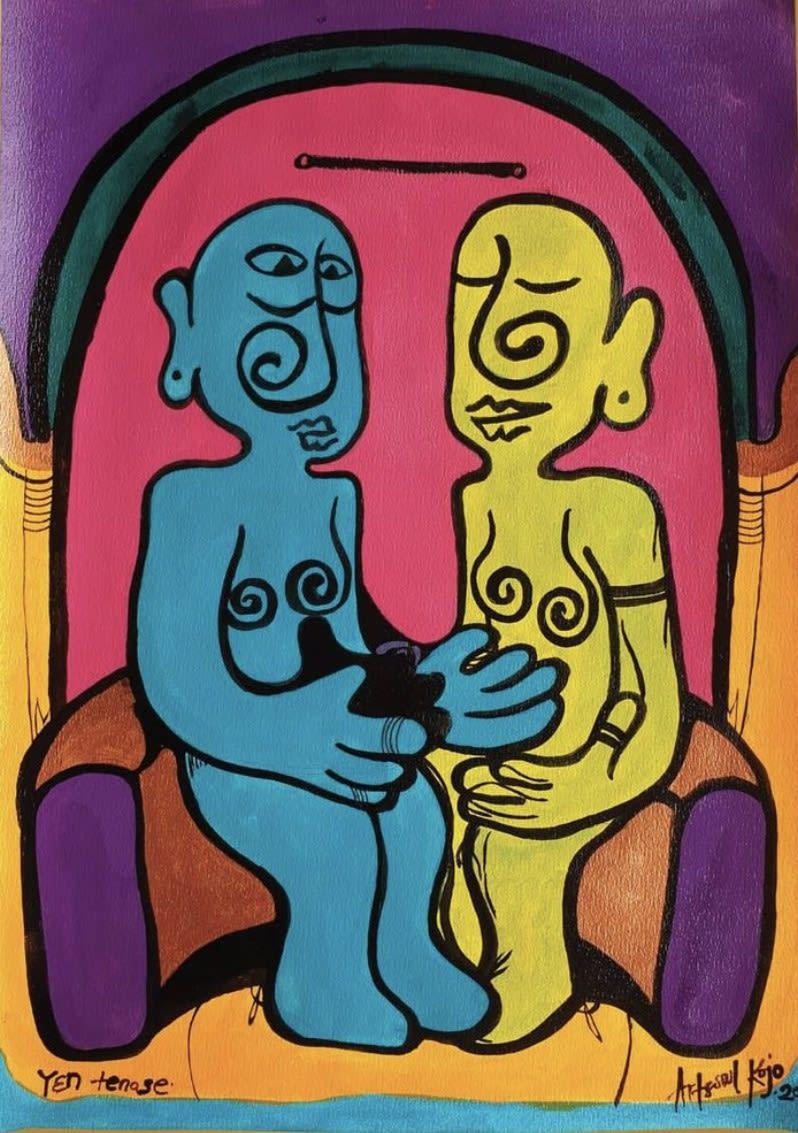 Artsoul Kojo Y3N Tenase Lets Sit Down 42 x 60 cm Painting
