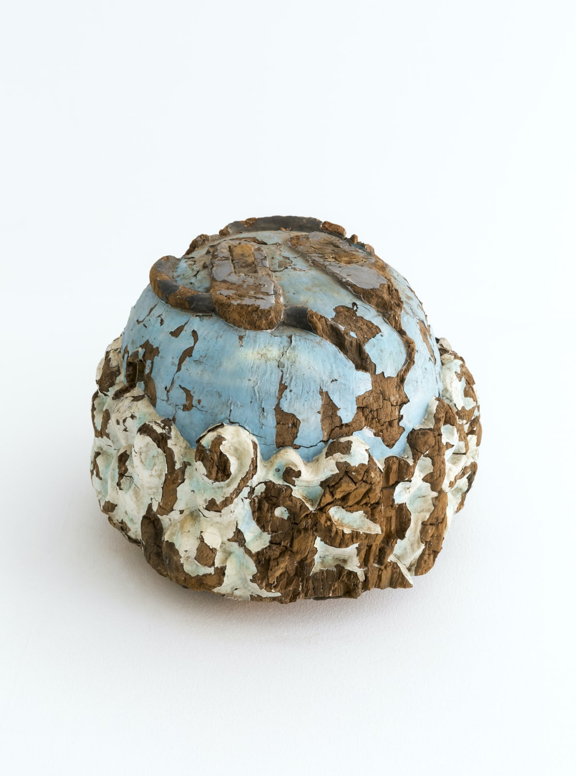 Globe, 2018, Gmelina wood, paint, 33.4 x 43 x 42.3 cm