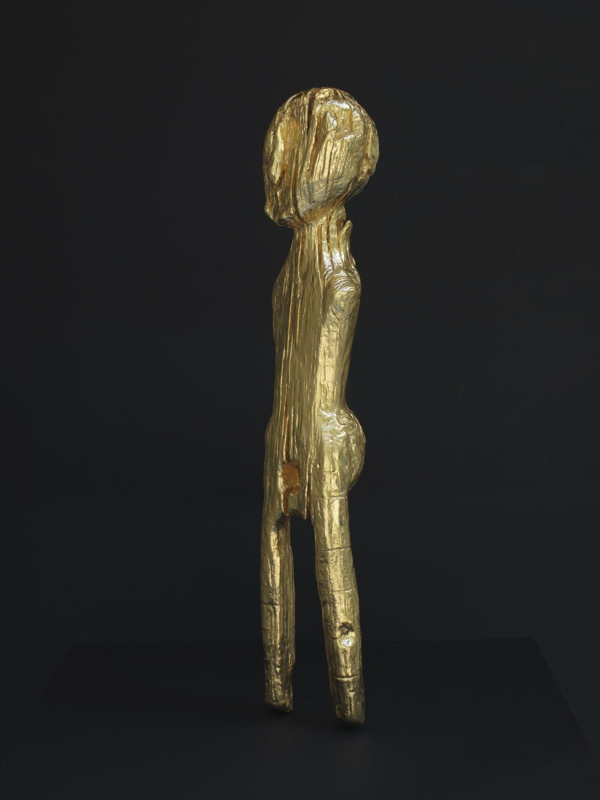Essex Idol, 2021, bronze, 24ct gold, 47.5 x 9 x 5 cm, unique