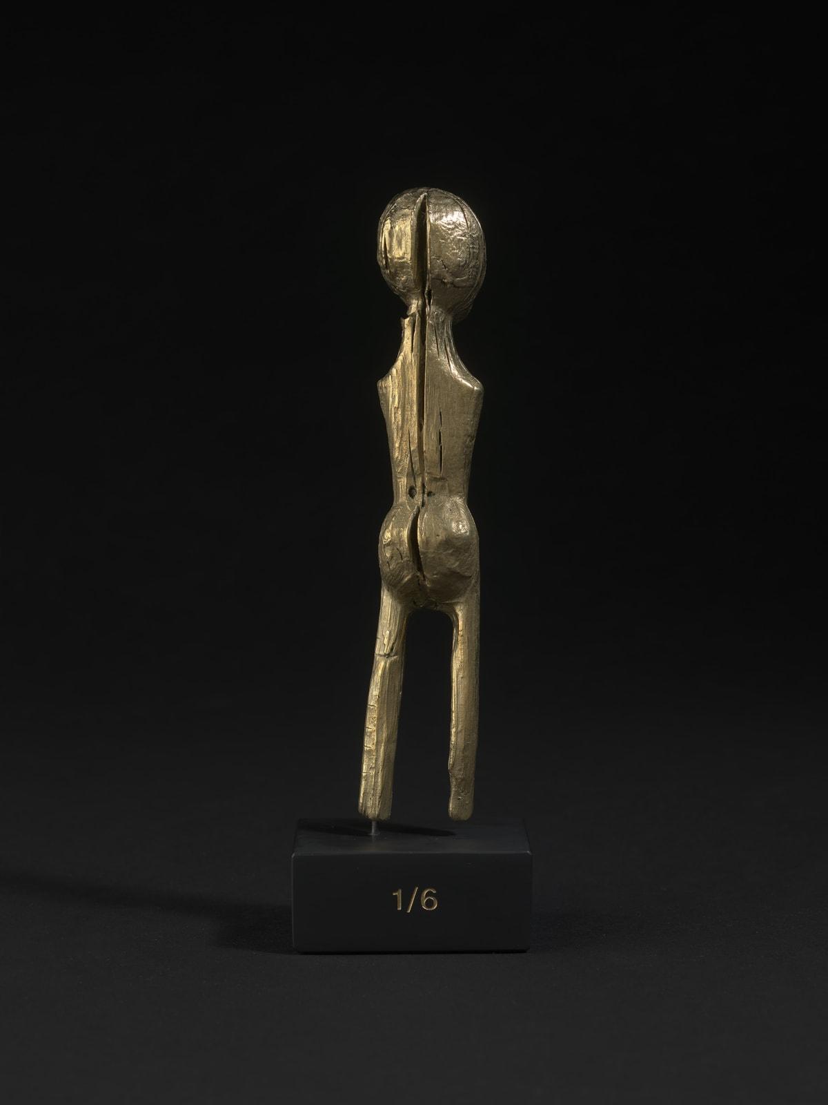 Mantelpiece Idol, 2021, polished brass, slate, 23ct gold, 22 x 7 x 5 cm