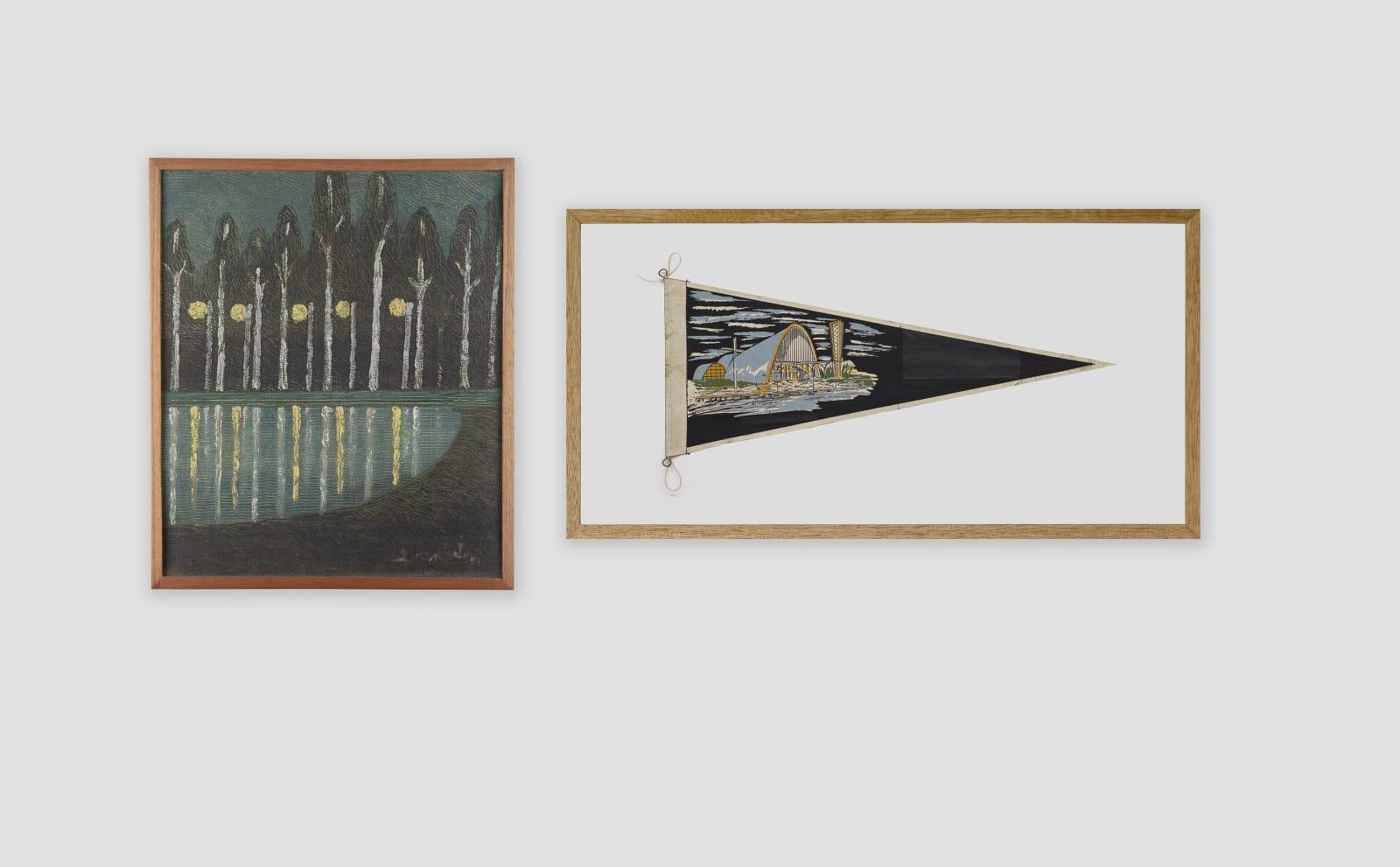 LORENZATO Reflexo, sem data Óleo sobre tela e madeira 42 x 35,5 cm BRUNO FARIA Lembranças de Paisagem I Belo Horizonte, 2020 Pintura e serigrafia sobre tecido 32 x 61,5 cm