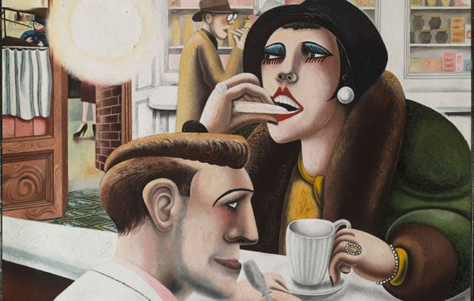 Edward Burra, 'The Snack Bar' 1930, oil on canvas, 30 1/8 x 22 in, 76.4 x 55.9cm Tate Collection