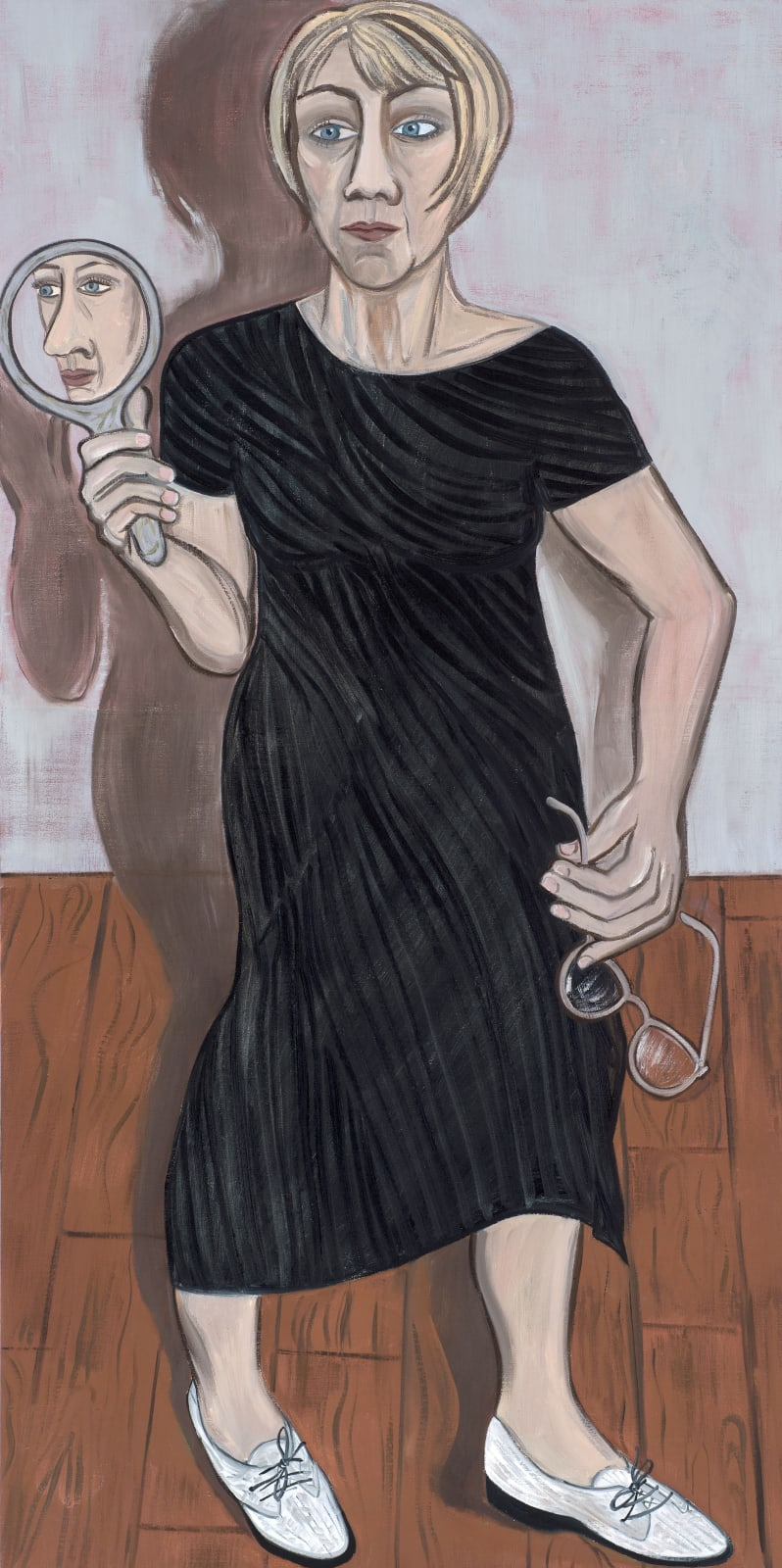 Eileen Cooper The Black Dress, 2019 Oil on canvas 153 x 76cm