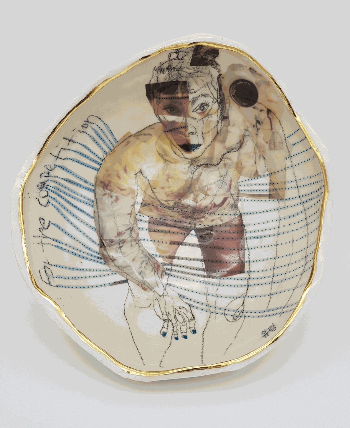 Yurim Gough Yurim & Yurim, 2019 Ceramic pencil on ceramic 24 x 23 x 11.5cm £3,000