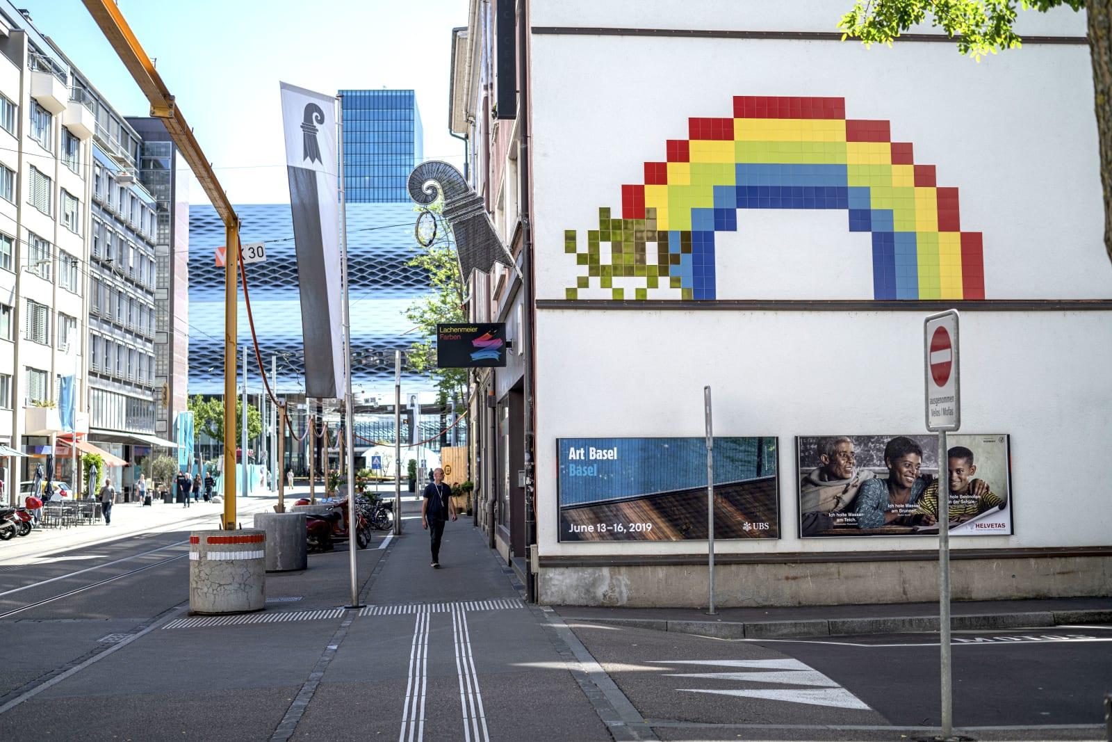 Invader (F) | 2019 Clarastrasse, Basel EVENT: ARTYOU WALLS'19