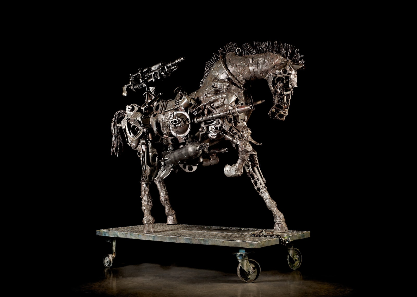 Willie Bester, Trojan Horse, Conceived and fabricated 2007