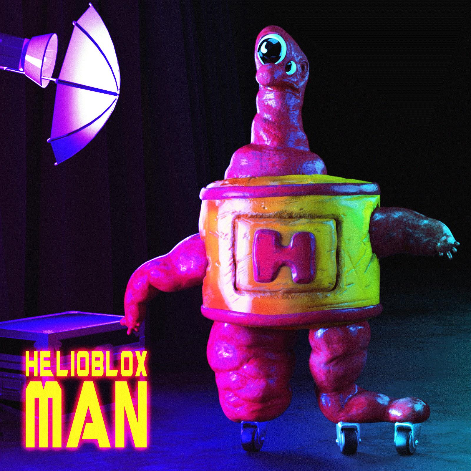 Ben Wheele, Helioblox Man, 2021 Bid on OpenSea