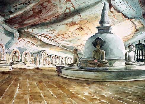 745 Dambulla cave temple - The Kings Chamber