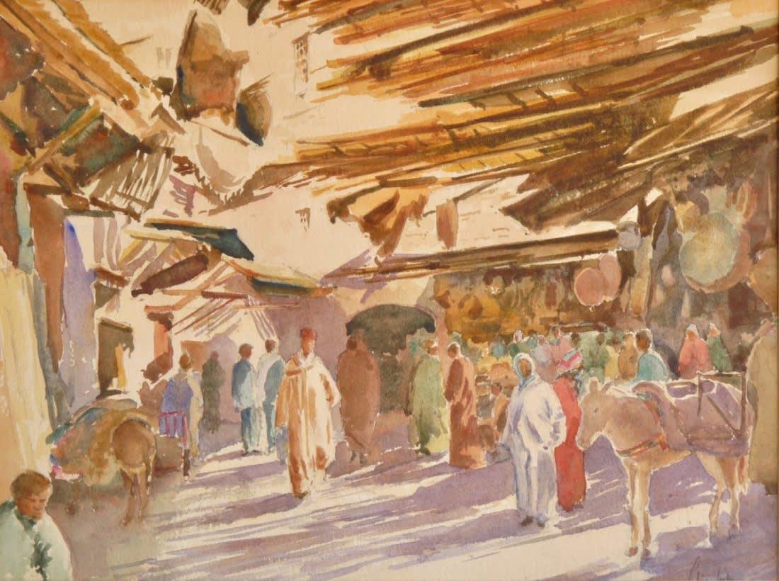324 Fez souk - sunlight and shadows