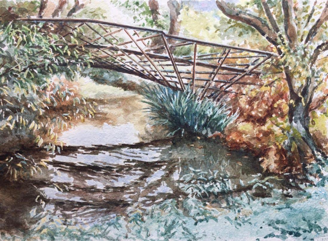 958 Kingfisher Bridge, green reflections