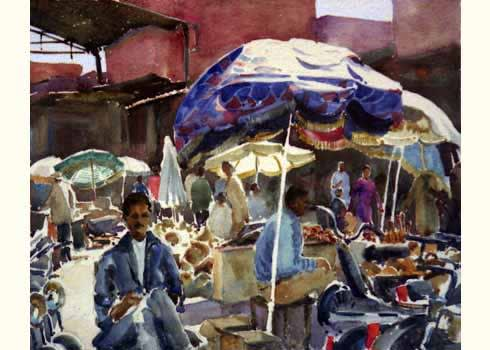 482 Marrakech souk, umbrellas