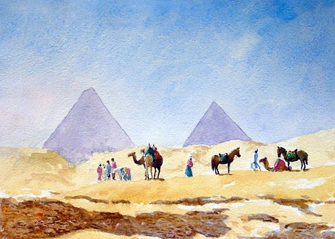 809 Rest on the way to the pyramids