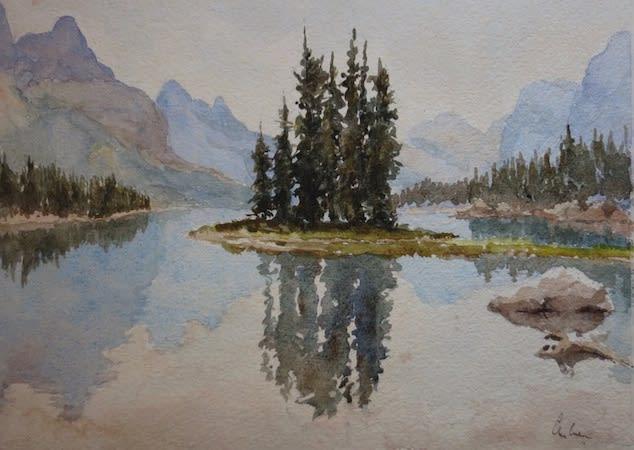 970 Spirit Island, Maligne Lake (1)