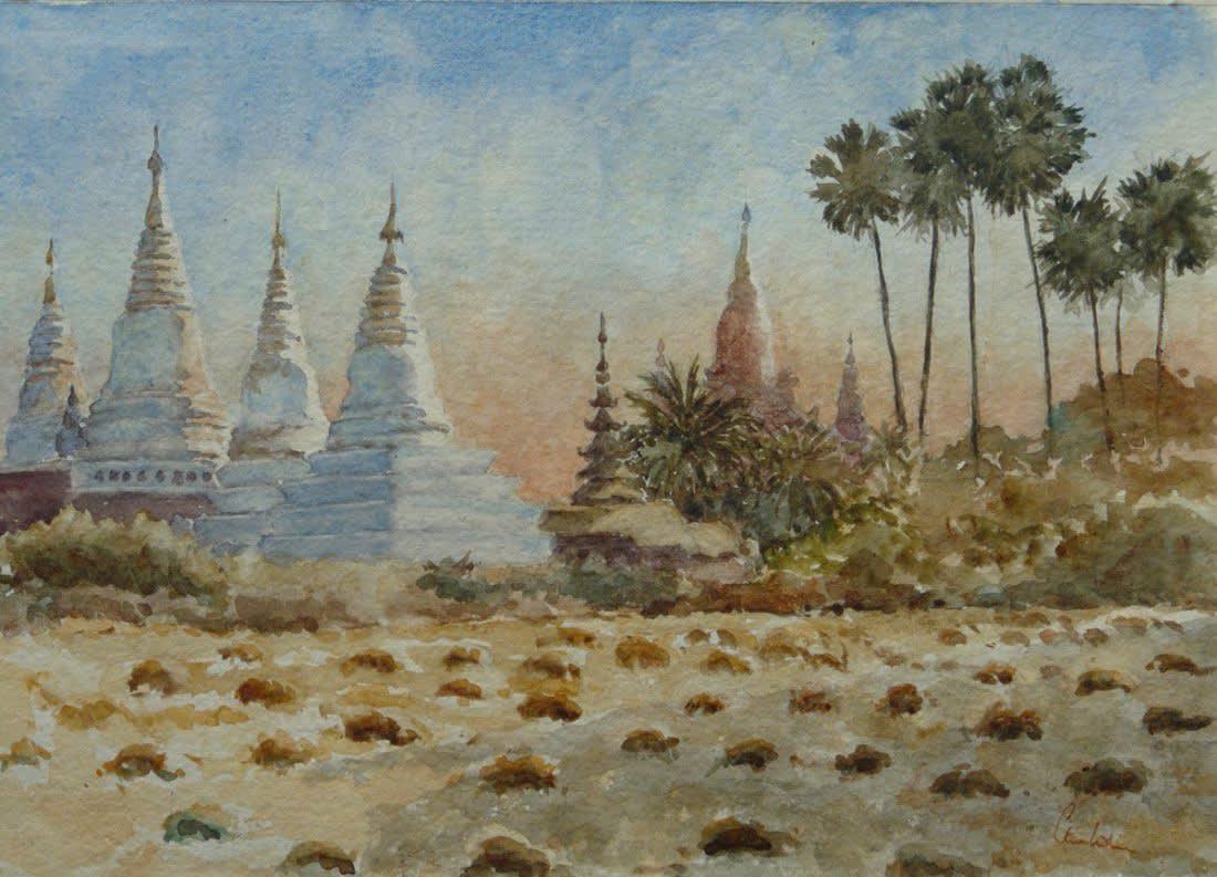 896 Towards sunset, Min O Chantha, Bagan