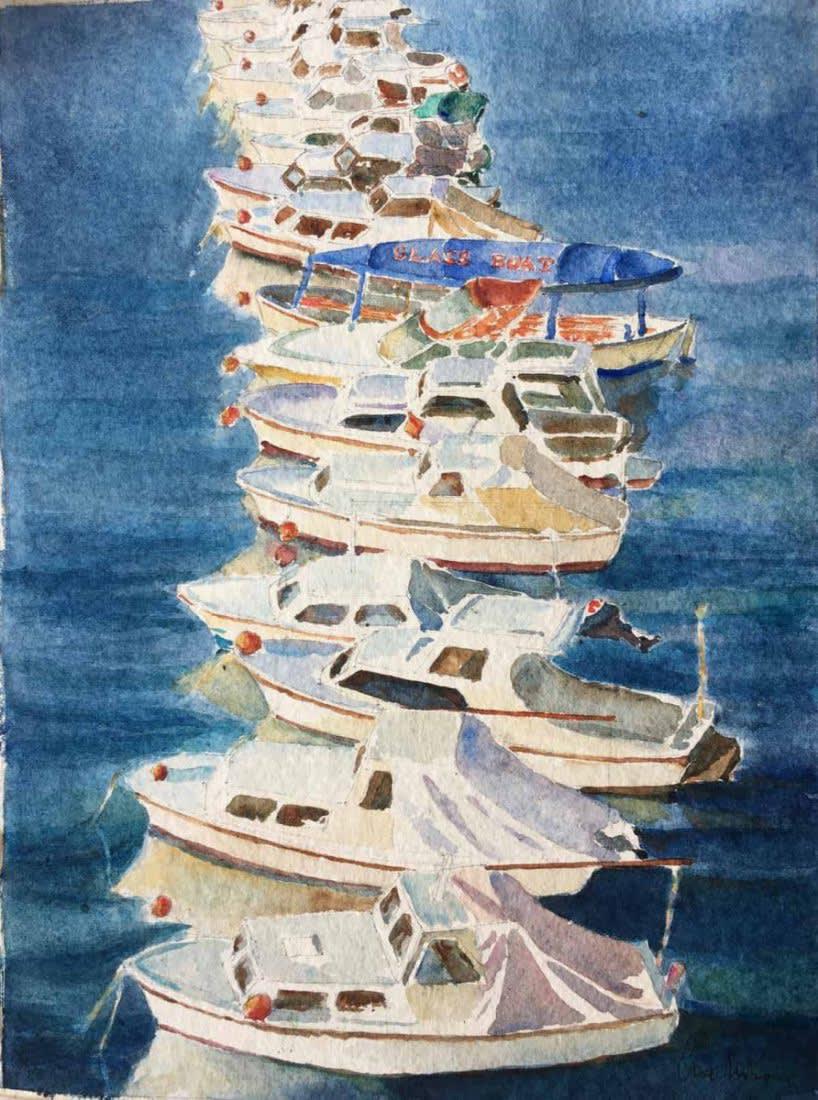 988 Sunset Dubrovnik harbour