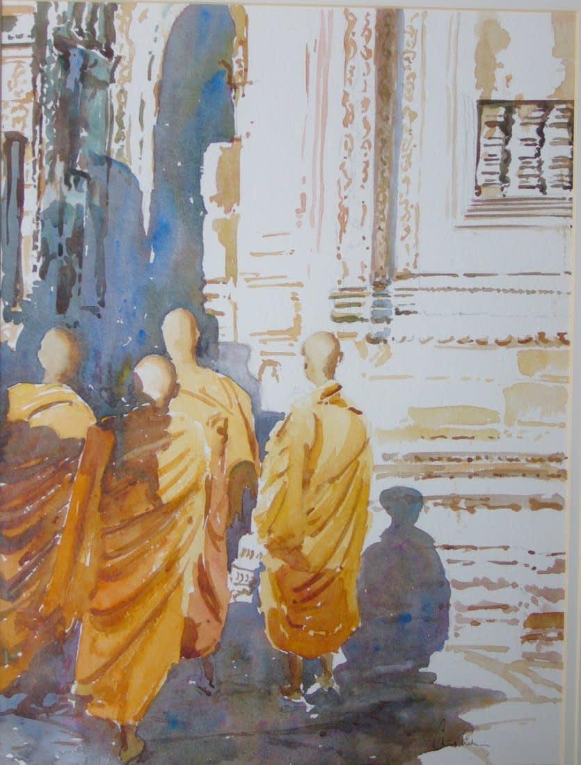 287 Bayon pm - the monks passegiata