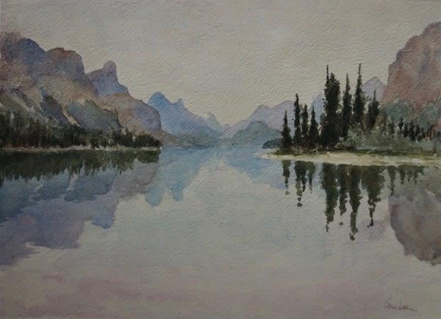 971 Maligne Lake, towards evening