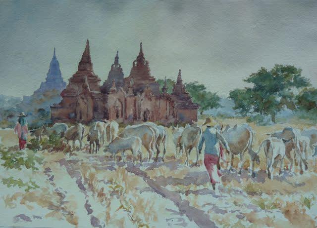 928 Bagan, homewards herding