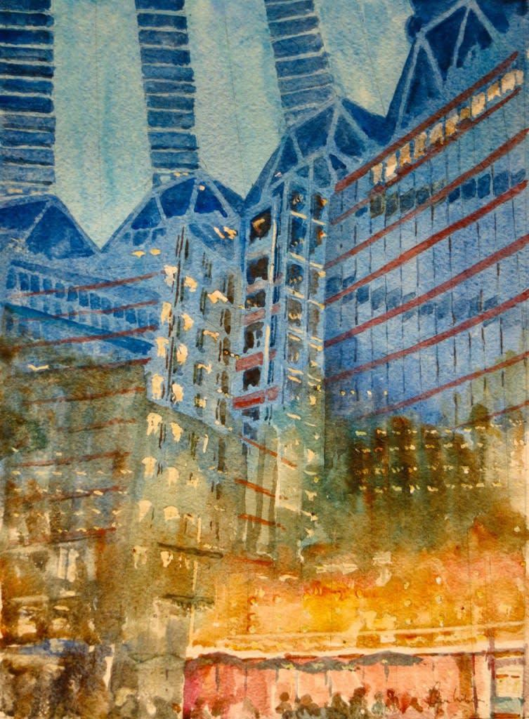 952 Berlin, Potsdamerplatz - night-time reflections