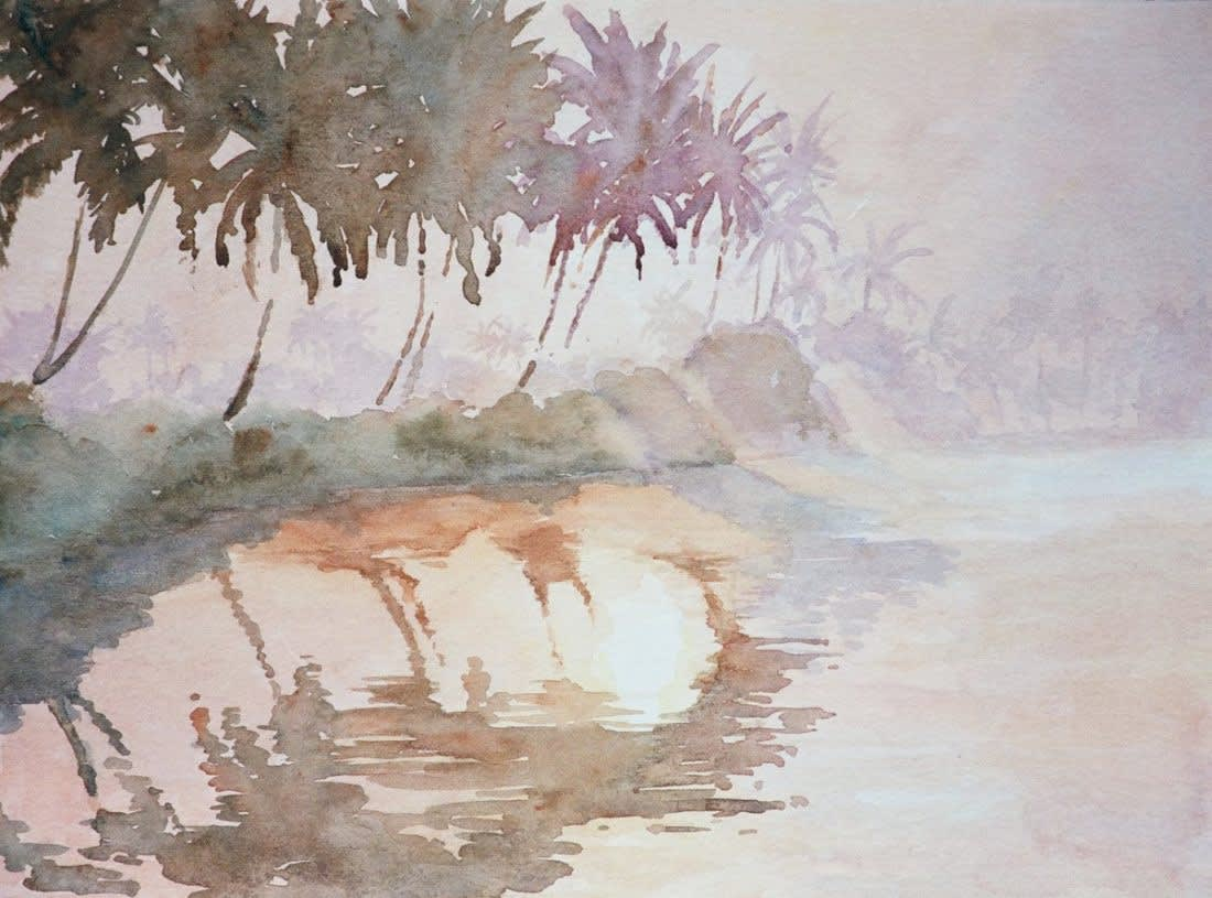 636 Backwaters, sun rising through mist