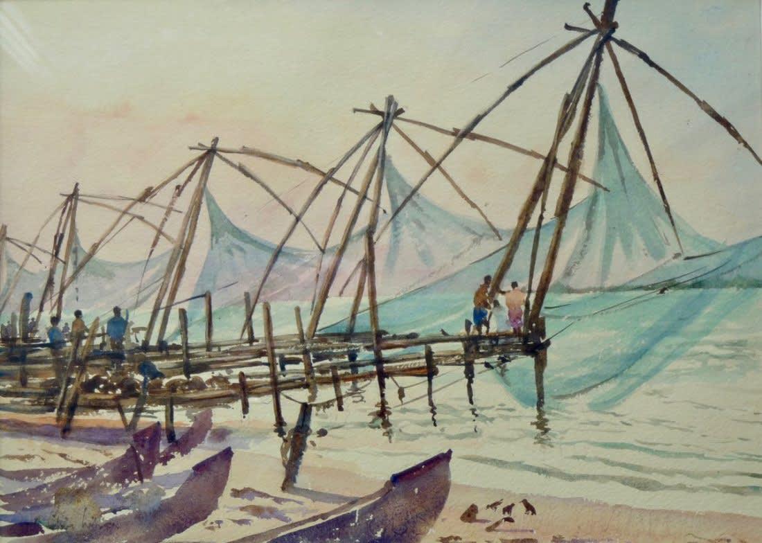 608 Fishing nets, Fort Cochin