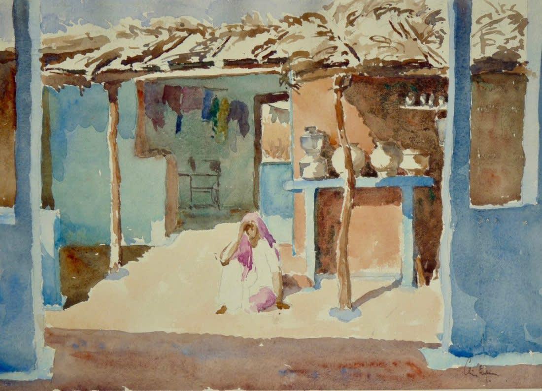 657 Brahmin village interior I