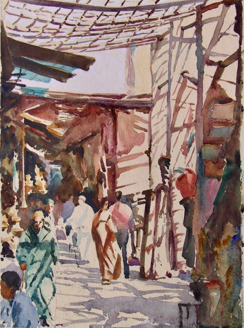 483 Marrakech souk, criss-cross