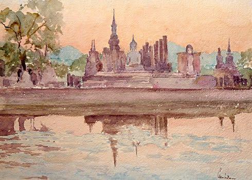 871 Sunset, Wat Mahartat, Sukhotai