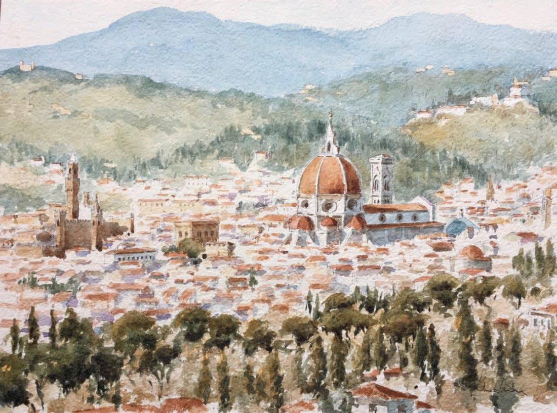 961 From Fiesole, early summer
