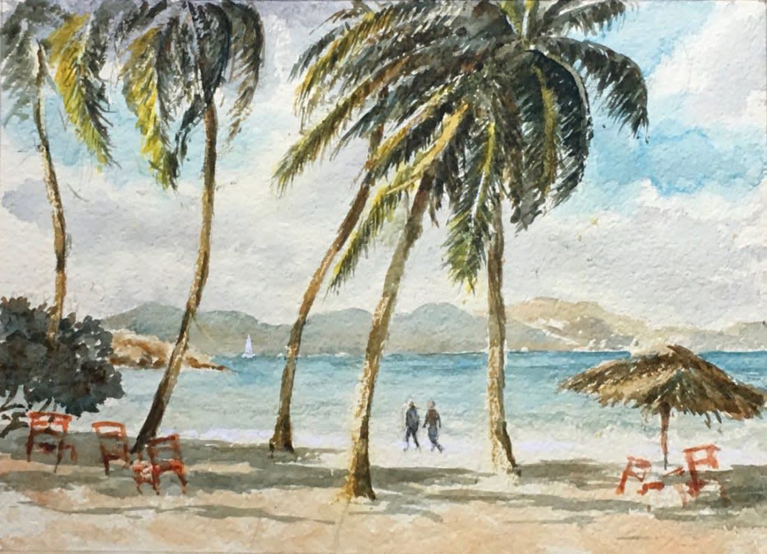 997 Walk in the surf, Peter Island