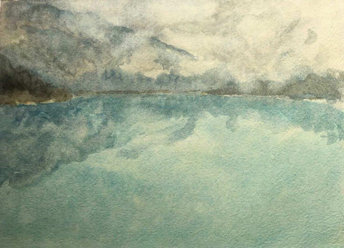 978 Rain over Emerald Lake