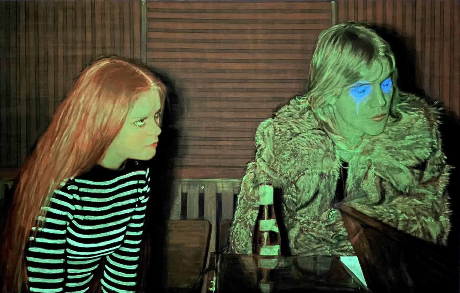 Patrick et la fille rousse, 2021 Phosphorescent view