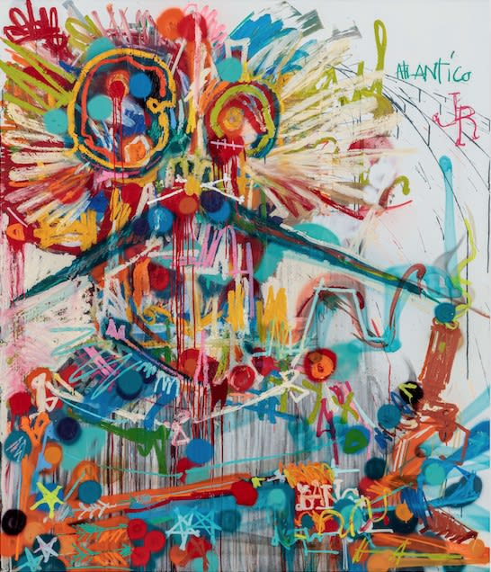 Atlantico JR, 2019 oil, enamel, and ink on canvas 84 x 72 inches