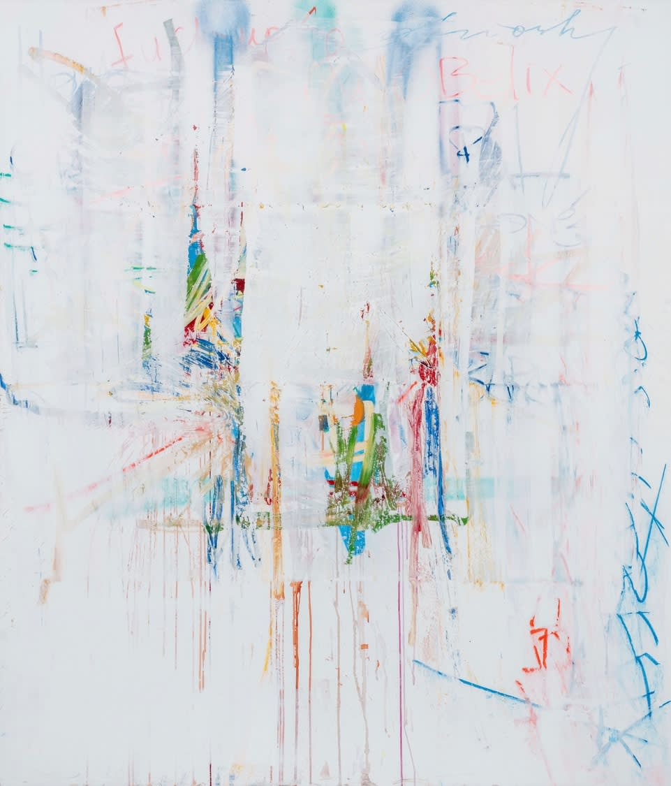 MI' NiGRis, 2019 oil, enamel, and ink on canvas 84
