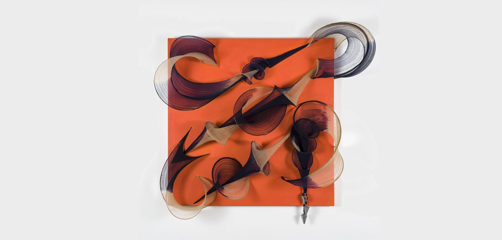 "Ouroboros, 2018, Penelope Ross, Mixed media, 36 x 36 x 12"""