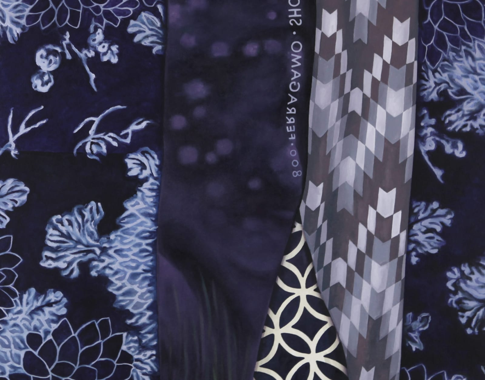 "Devon Nowlin, (Detail) Mega-Purple, Oil on canvas, 30 x 36"""