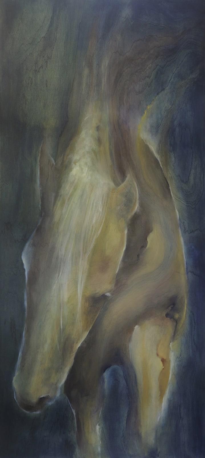 Nicholas Baldridge 'Strength' Oil on Wood, 34 x 80