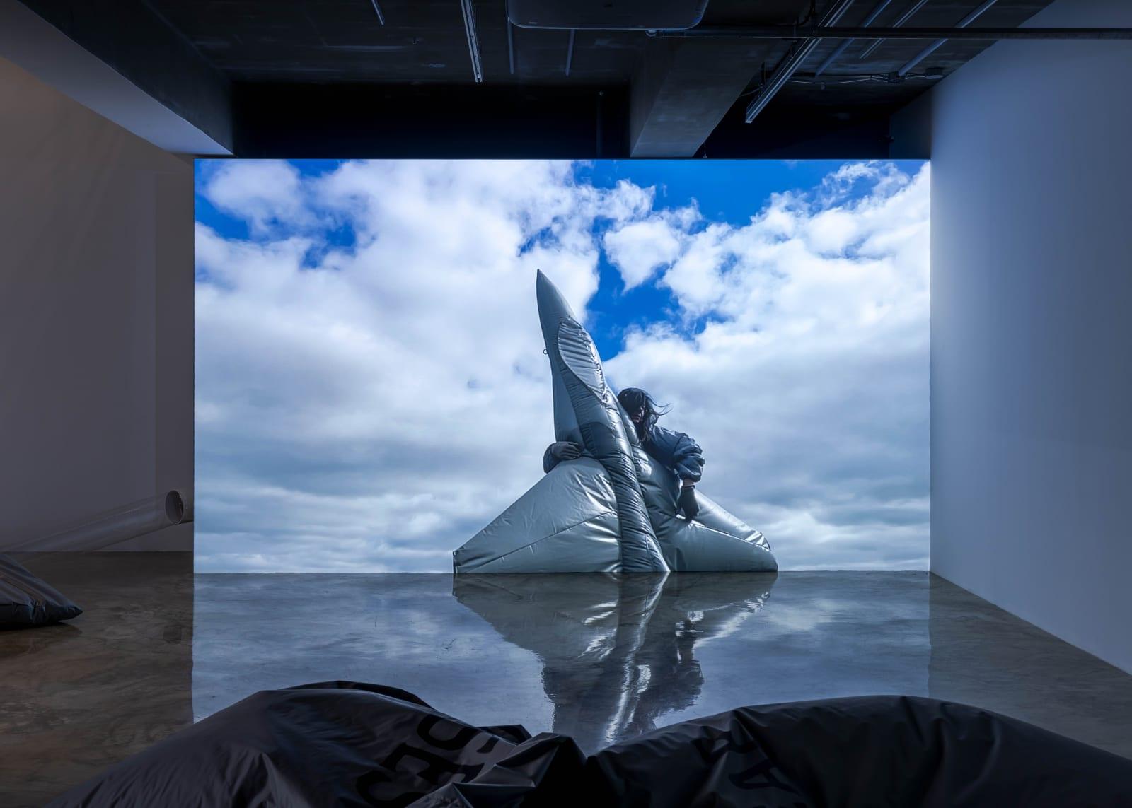 Fiona Banner aka The Vanity Press, Pranayama Typhoon, 2021, Installation View, Barakat Contemporary