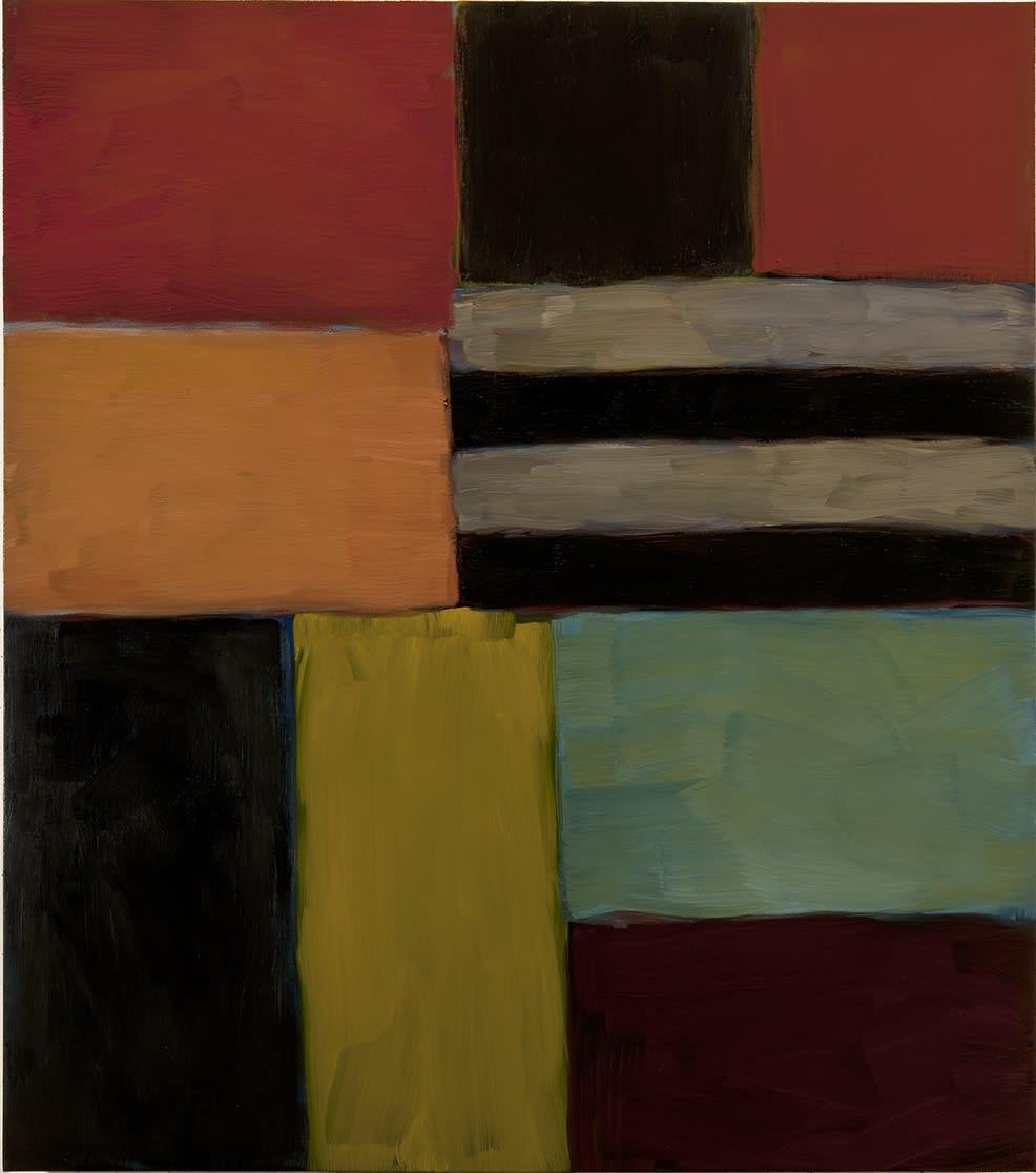 Sean Scully Cut Ground Green 8.11, 2011 Oil on linen 215 x 189.8 cm. (84.6 x 74.7)