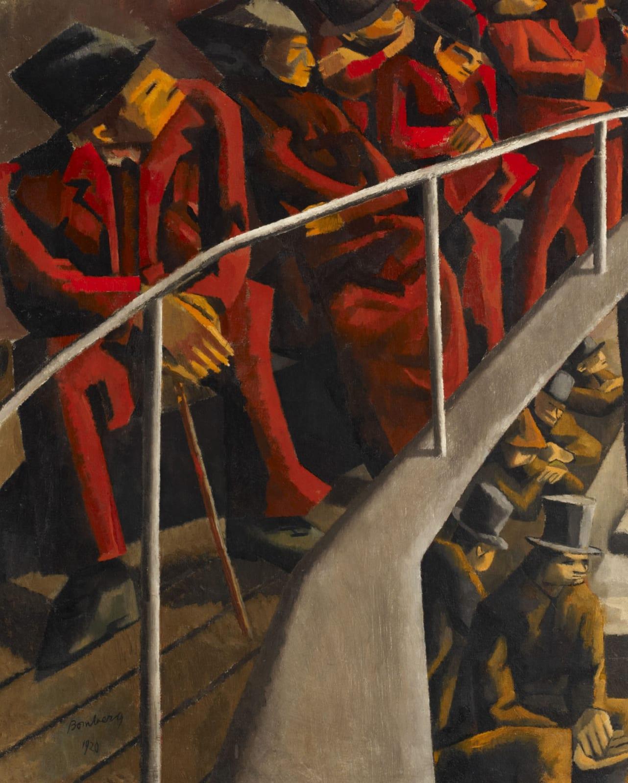 Ghetto Theatre by David Bomberg (1890-1957), 1920. Oil on canvas.