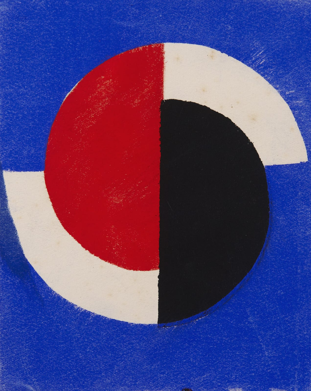 Greeting Card for Galerie Bing, Paris by Sonia Delaunay (1885-1979), 1964. Poster paint on paper.