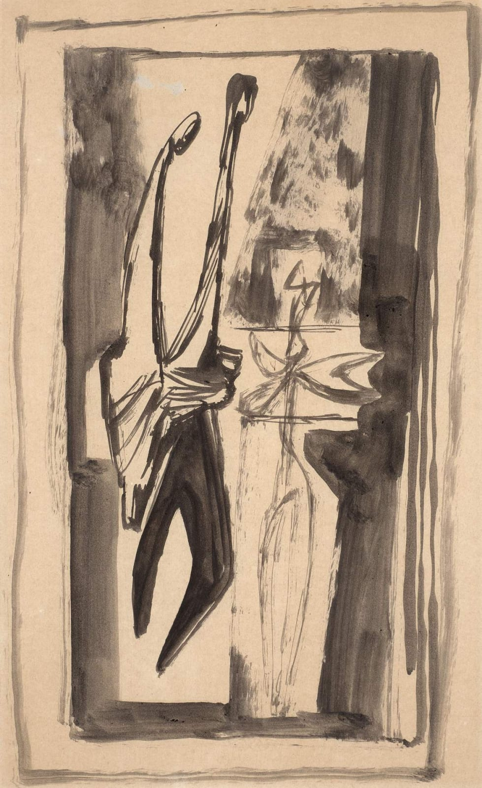 Jankel Adler (1895-1949) Study for Tremblinka 1948 Pen and ink on paper 50.8 x 38.2 cm Private Collection To see and discover more about this artist click here