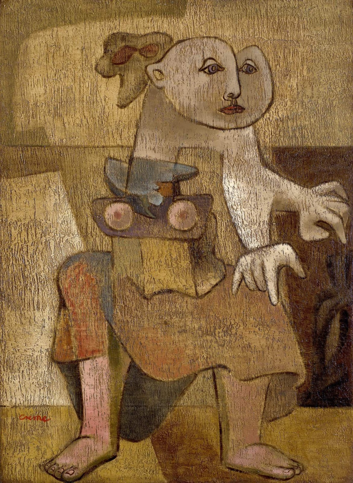Benjamin Creme (1922–2016) The Anchorite 1943 Oil on board 77 x 57 cm Private Collection, courtesy of England & Co, London To see and discover more about this artist click here