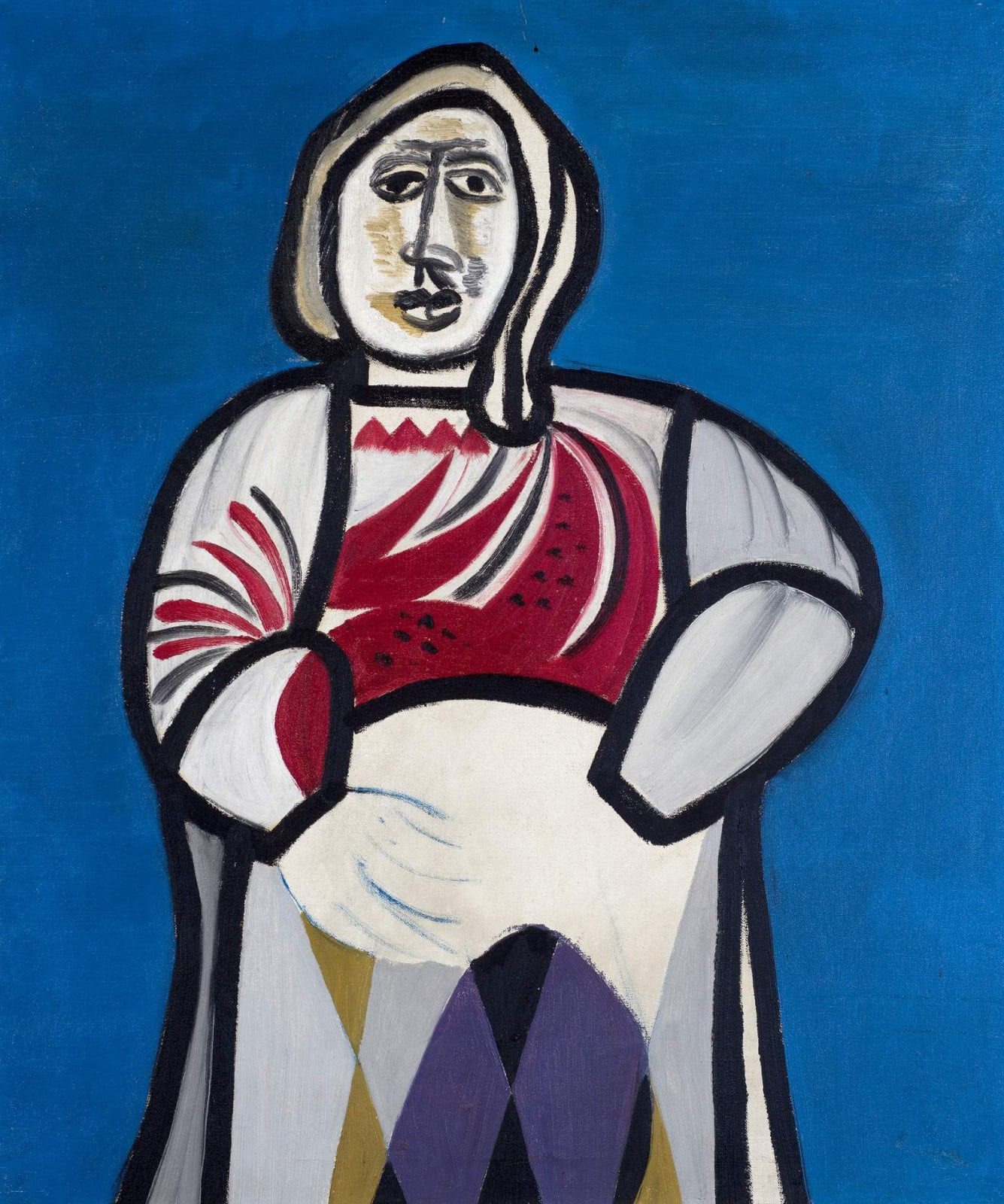 Robert Colquhoun (1914–1962) Woman Seated, Blue Ground n.d. Oil on canvas 61 x 51 cm Jaffe Collection