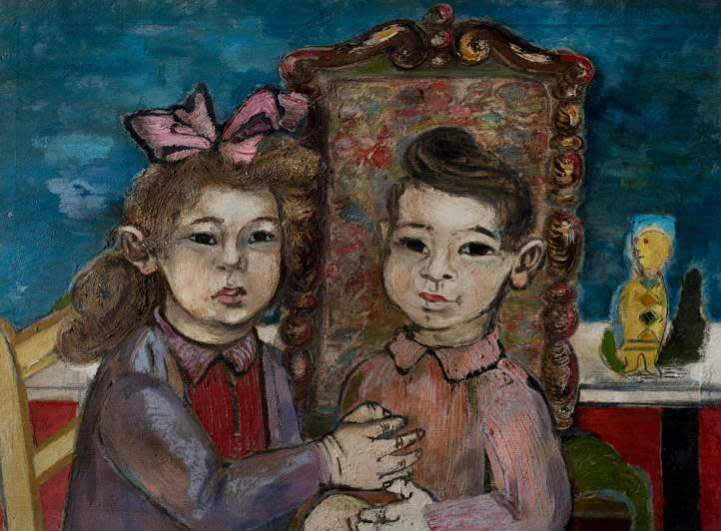 Jankel Adler (1895-1949) Portrait of Myra and Mark 1941 Oil on canvas 56 x 76 cm Private Collection To see and discover more about this artist click here