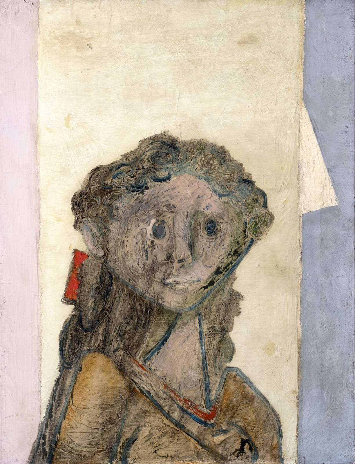 Jankel Adler (1895-1949) Girl's Head 1940s Oil on canvas 84 x 56 cm Charles Bezalel Aukin Collection To see and discover more about this artist click here
