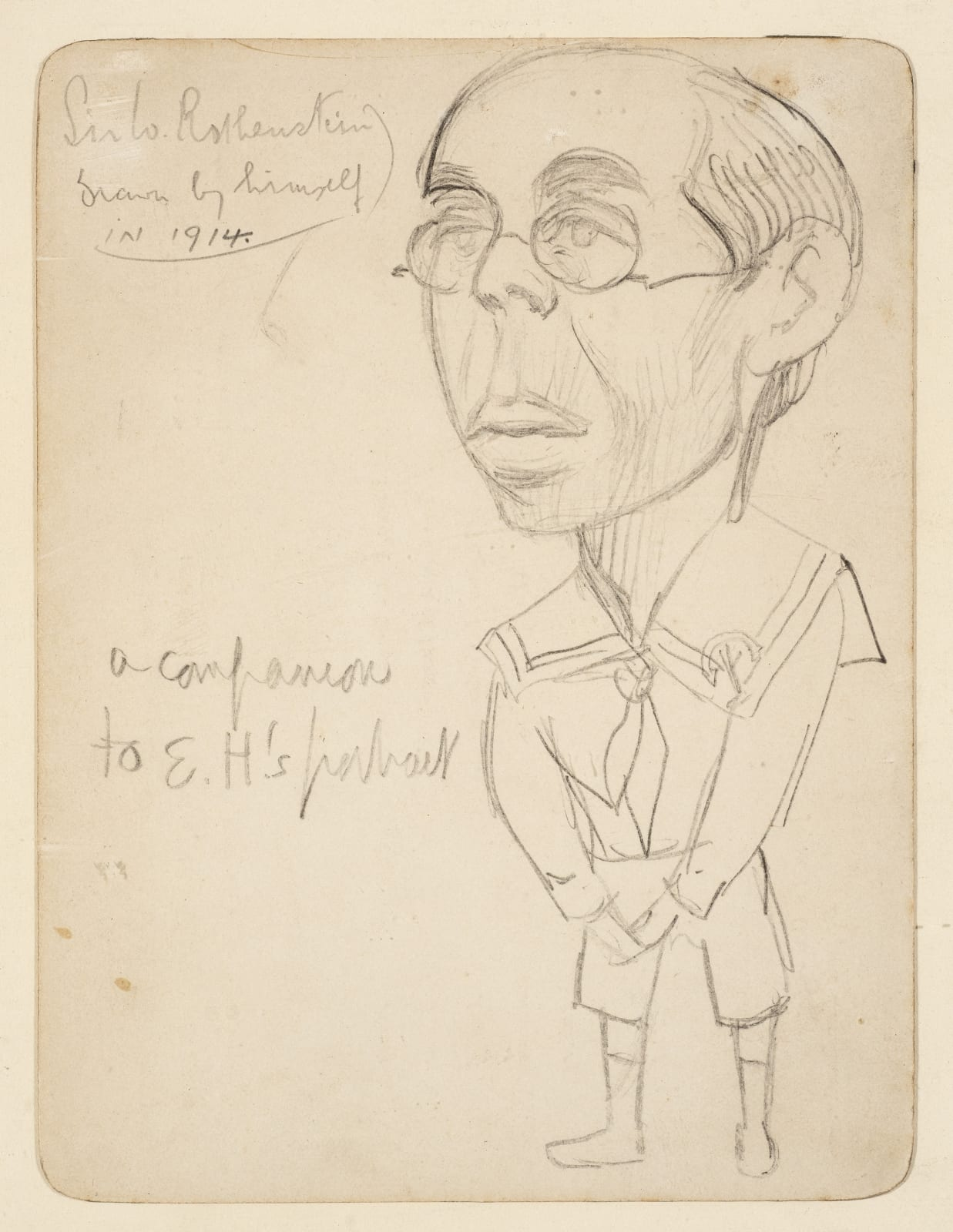 William Rothenstein (1872-1945) Self Portrait 1914 Pencil on paper 15.24 x 11.43 cm Ben Uri Collection To see and discover more about this artist click here