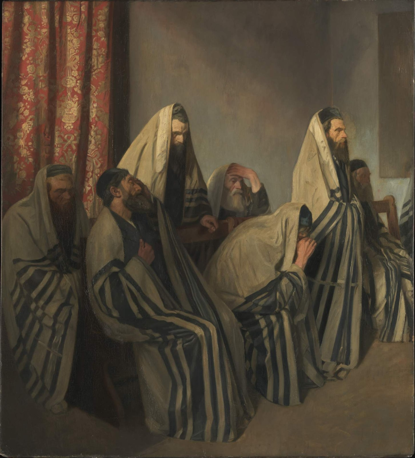 William Rothenstein (1872-1945) Jews Mourning in a Synagogue 1906 Oil on canvas 127.5 x 115.5 cm Tate To see and discover more about this artist click here