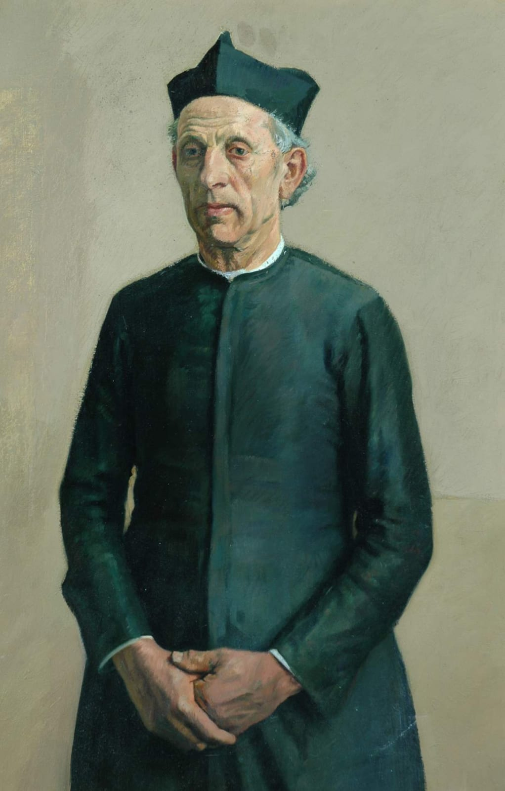 William Rothenstein (1872-1945) The Village Priest c.1925 Oil on canvas 76.2 x 50.8 cm Bradford Museums and Galleries To see and discover more about this artist click here