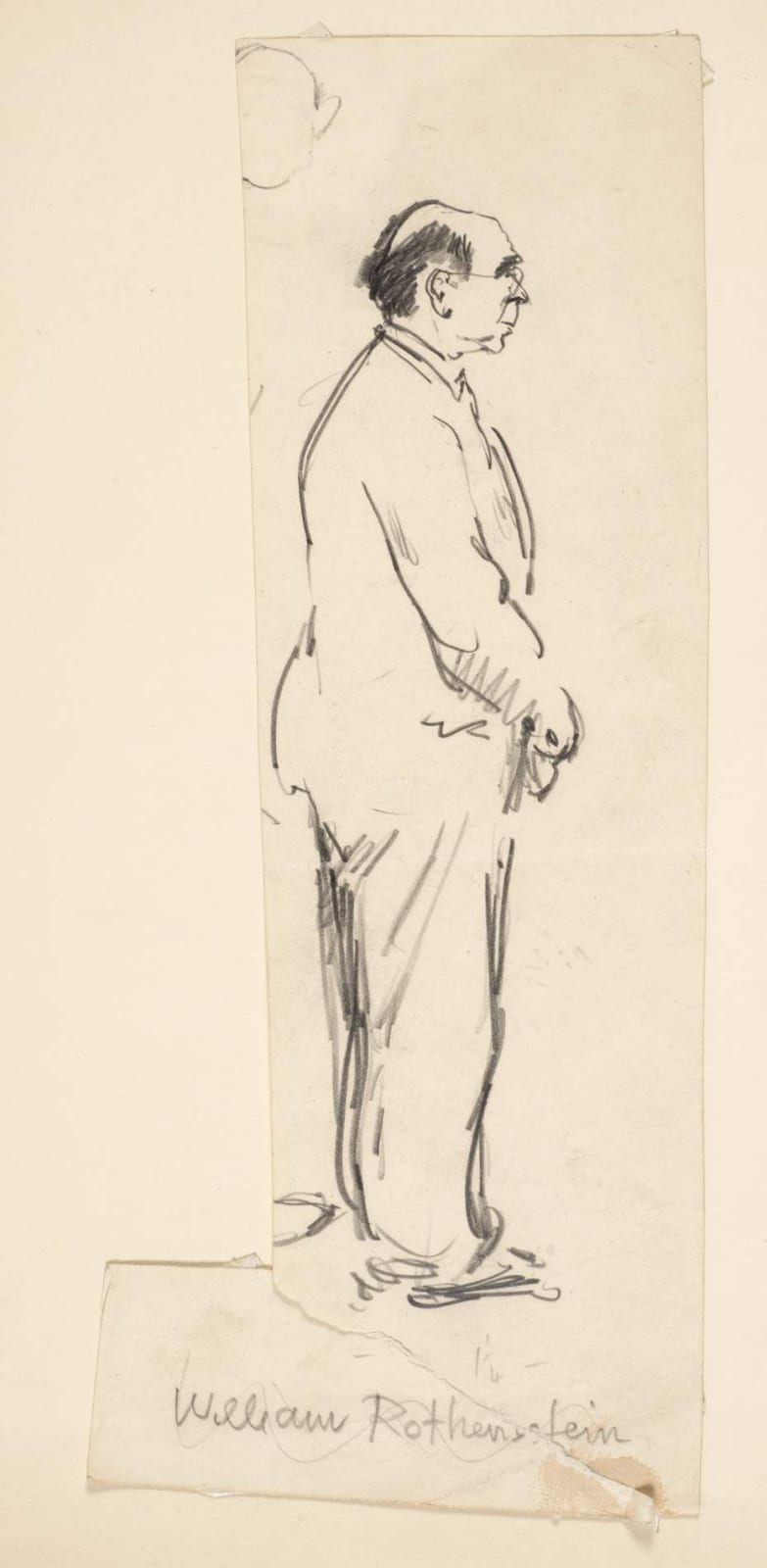 Milein Cosman (1921-2017) William Rothenstein 1941 Pencil on paper 24.2 x 7.7 cm Private Collection © Milein Cosman estate To see and discover more about this artist click here